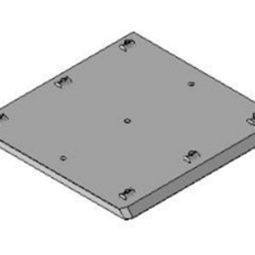Schnellwechselvorrichtung quadratisch, Greiferseite, 250x250, Schnellwechselsystem GPM3.X für Roboterarme: Schneller Wechsel von Greifern am Roboter