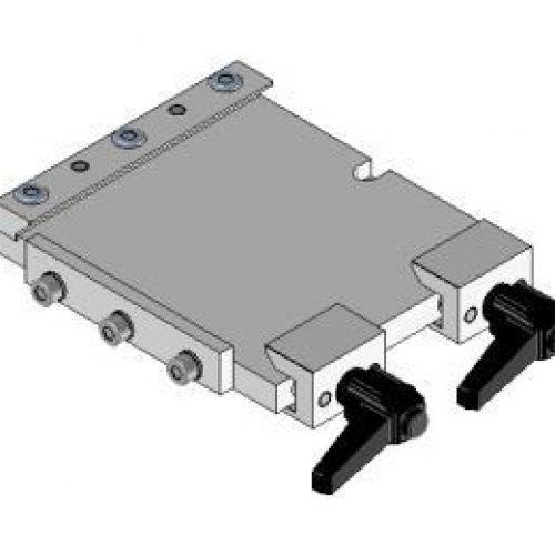 Schnellwechselvorrichtung quadratisch, Roboterseite, 100x100, Schnellwechselsystem SWM1 für Roboterarme: Schneller Wechsel von Greifern am Roboter
