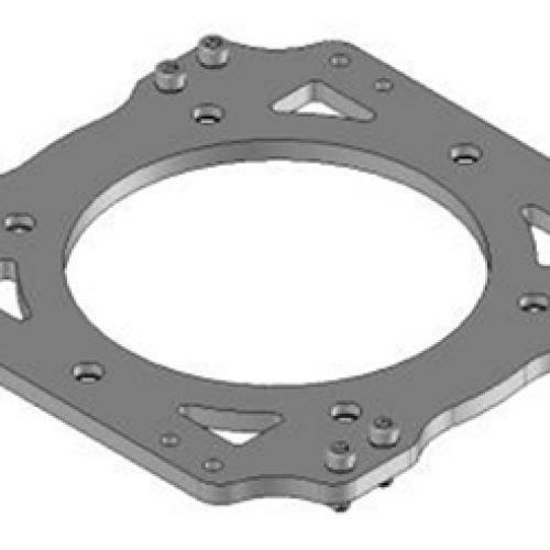 Adapter / Platte CUSL.200.I passend für Schnellwechsler CUSL.200.G greiferseitig: Schneller Wechsel von Greifern am Roboter, End-of -Arm-Tooling