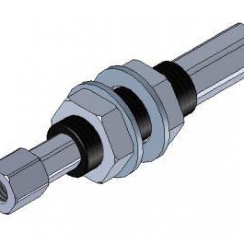 Federstößel SDNG1010, innen liegende Feder zum Schutz vor Verschmutzung, Befestigung durch Schottverschraubung M10x1, Hub 10 mm, Saugeranschluss starr, sehr leichtgängig, Aluminium, verdrehgesichert – Alles für den Greiferbau