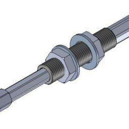Federstößel SDNG1025innen liegende Feder zum Schutz vor Verschmutzung, Befestigung durch Schottverschraubung M10x1, Hub 25mm, Saugeranschluss starr, sehr leichtgängig, Aluminium, verdrehgesichert – Alles für den Greiferbau