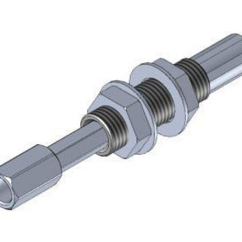 Federstößel SDNG1420innen liegende Feder zum Schutz vor Verschmutzung, Befestigung durch Schottverschraubung M14x1, Hub 20 mm, Saugeranschluss starr, sehr leichtgängig, Aluminium, verdrehgesichert – Alles für den Greiferbau