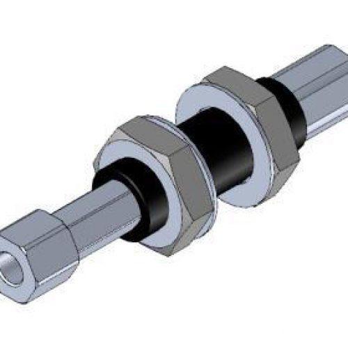 Federstößel SDNG2025innen liegende Feder zum Schutz vor Verschmutzung, Befestigung durch Schottverschraubung M20x1, Hub 25 mm, Saugeranschluss starr, sehr leichtgängig, Aluminium, verdrehgesichert – Alles für den Greiferbau
