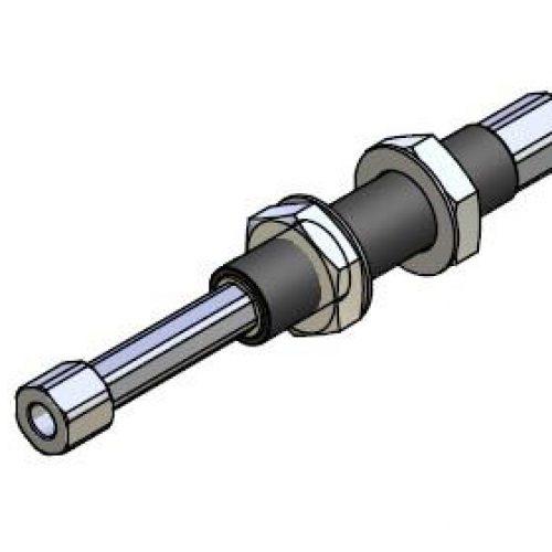 Federstößel SDNG2050innen liegende Feder zum Schutz vor Verschmutzung, Befestigung durch Schottverschraubung M20x1, Hub 50 mm, Saugeranschluss starr, sehr leichtgängig, Aluminium, verdrehgesichert – Alles für den Greiferbau