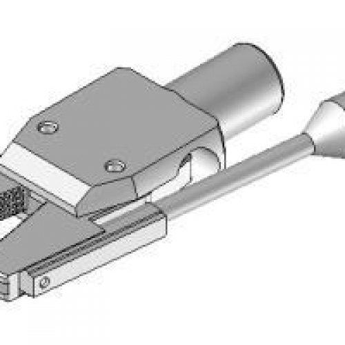 Greifzange mit Sensorabfrage, Greiferbacken mit Riffelprofil, Klemmdurchmesser 10 mm. Große Auswahl an EOAT-Komponenten im Onlineshop von guedon - GRZ.10.08.S